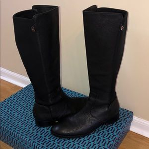 TORY BURCH LEATHER KNEE HIGH BOOTS WITH BOX!